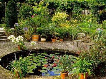 Оживляем дачный участок с помощью пруда и фонтана