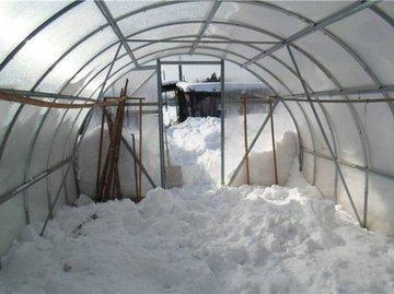 Снег в теплице нужен и важен!