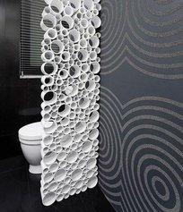 Декоративная перегородка из пластиковых труб