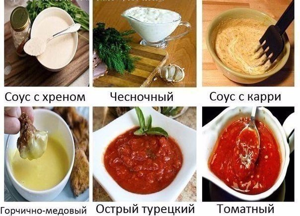 Шесть супервкусных соусов к мясным блюдам