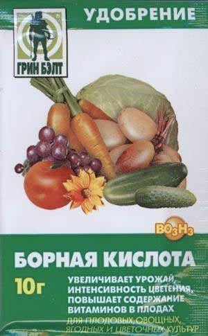 Применение борной кислоты в саду и огороде